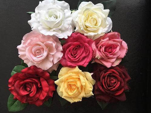 Large Rose Hair Flower