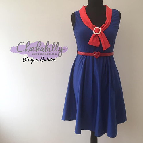 Lindy Bop Navy and Red Sailor Dress
