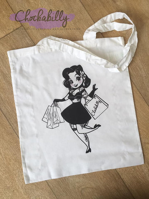 Peaches Goes Shopping Tote Bag