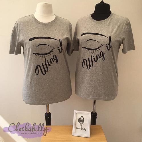 'Wing It' Vinyl Print T-Shirt