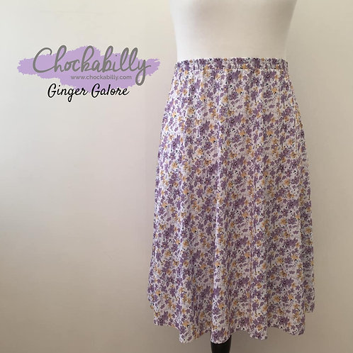 Lilac and Yellow Floral Skirt