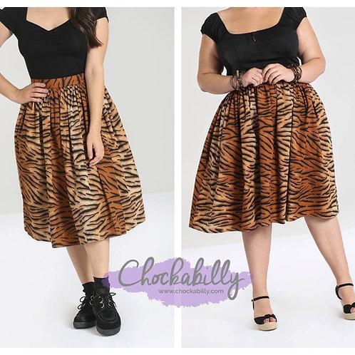 Hell Bunny 'Tora' Tiger Skirt