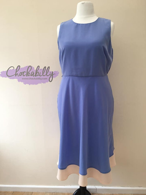 Lilac and Pink Panel Dress