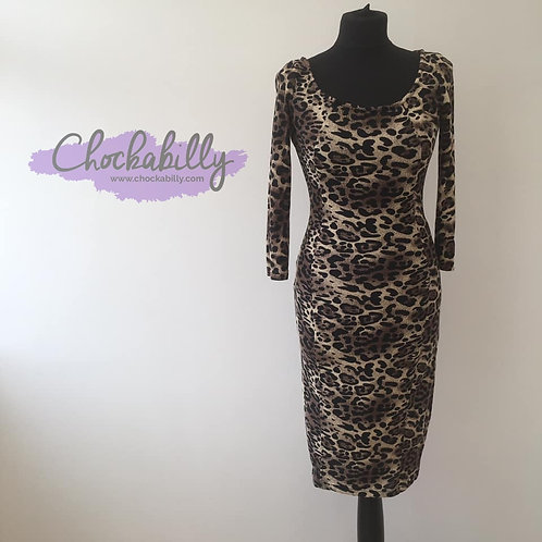 Collectif Leopard Print Wiggle Dress