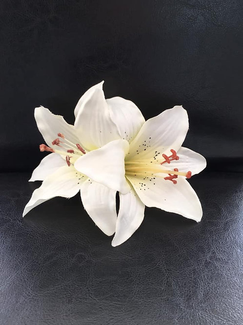 Double Lily Hair Flower