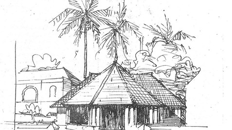 COFFEE HOUSE, SKETCH BY BAKER