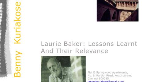 LAURIE BAKER MEMORIAL LECTURE PRESENTATION
