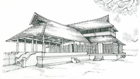 Alappuzha MULLAKKAL TEMPLE Sketch