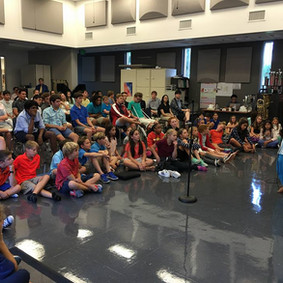Indian music session with students of Canterbury High School, Florida, US