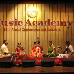 With Guru Smt. Neela Ramgopal at Music Academy, Chennai