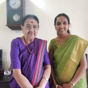 With Guru Smt. Neela Ramgopal