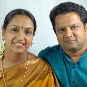 With husband Sri Arjun Kumar