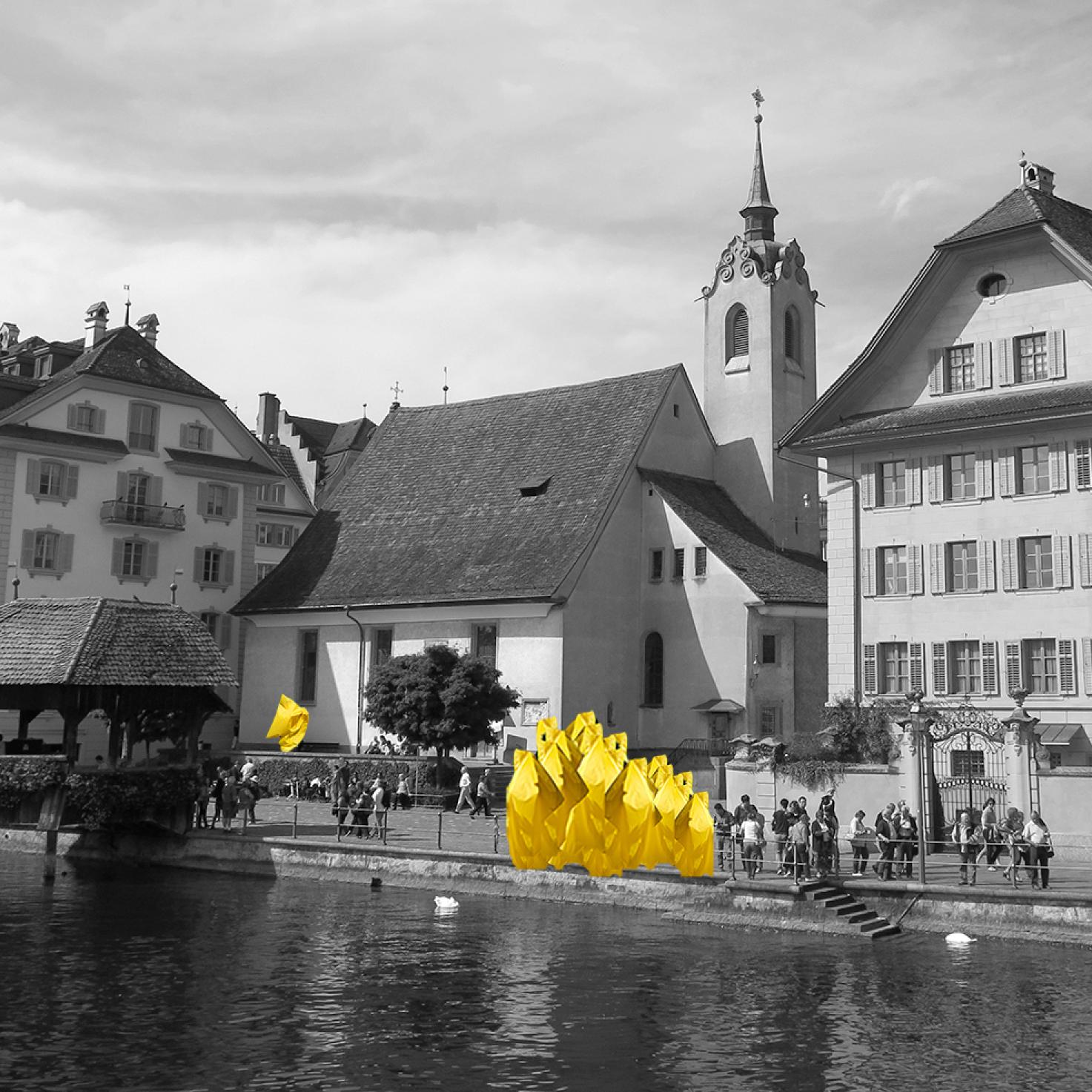 Angstkörper in Gelb