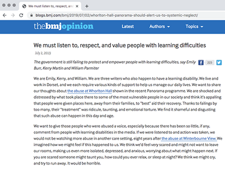 We must listen to, respect, and value people with learning difficulties