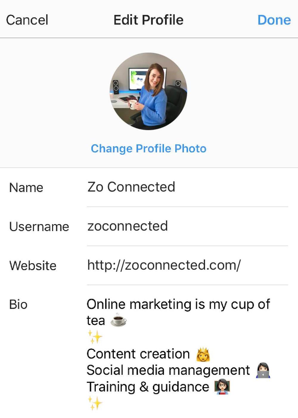 Zo Connected Instagram Tips