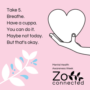 Zo Connected graphic for Mental Health Awareness Week promoting safe use of Instagram marketing