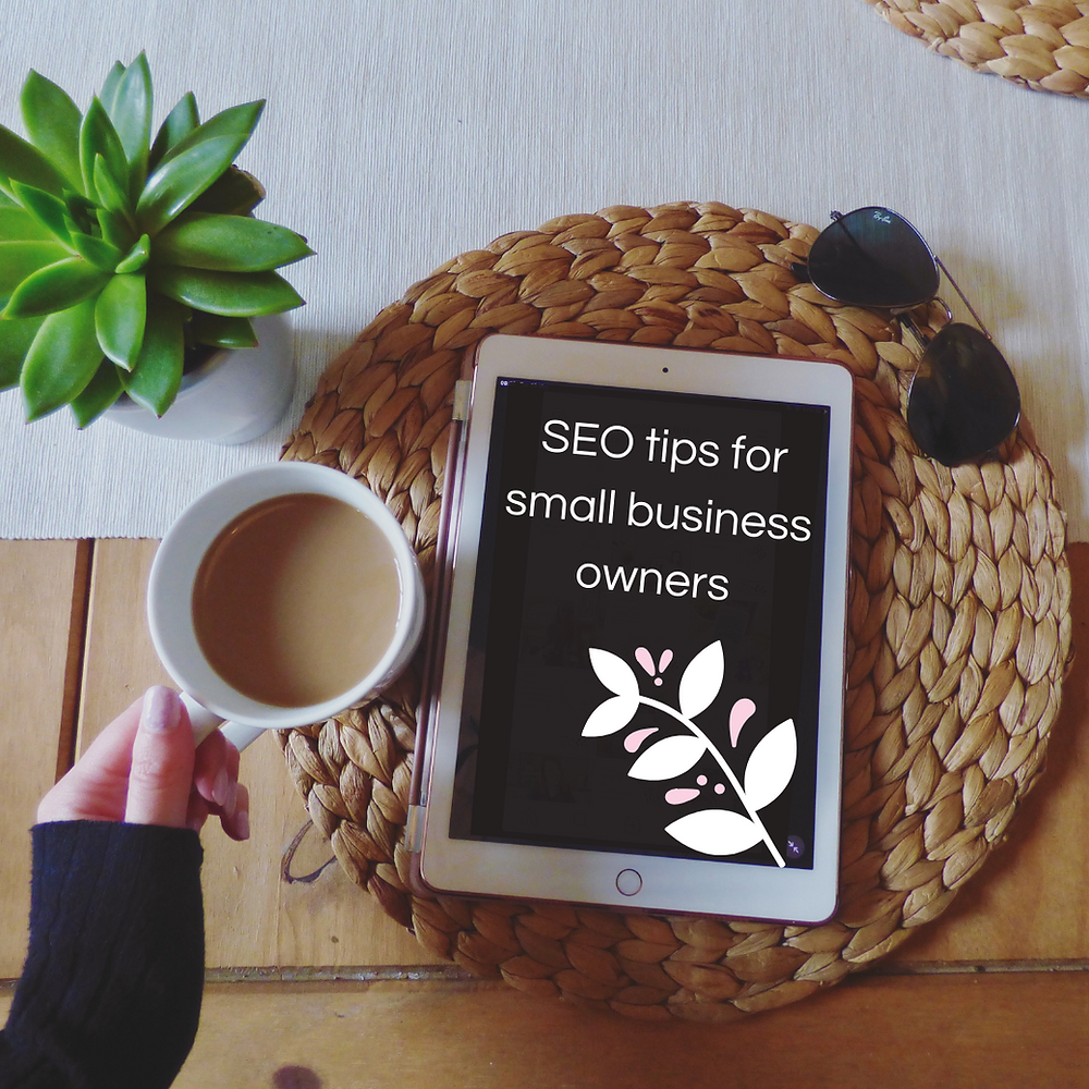 ipad saying seo tips for small business owners