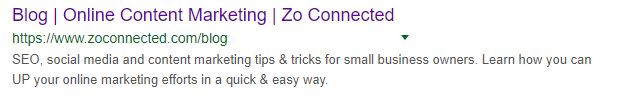 screenshot of Zo Connected Blog for Cheshire Small Business Owners marketing tips