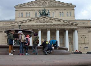 Сегодня устроили прогулку по центру Москвы.