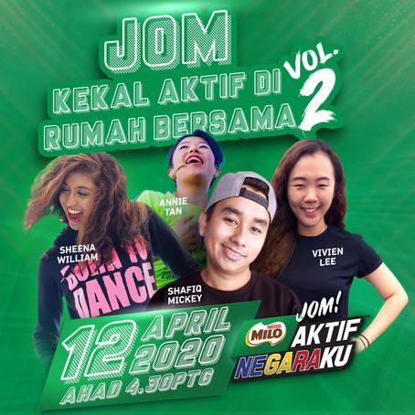 Stay active with MILO Malaysia's Virtual Aerobics Class