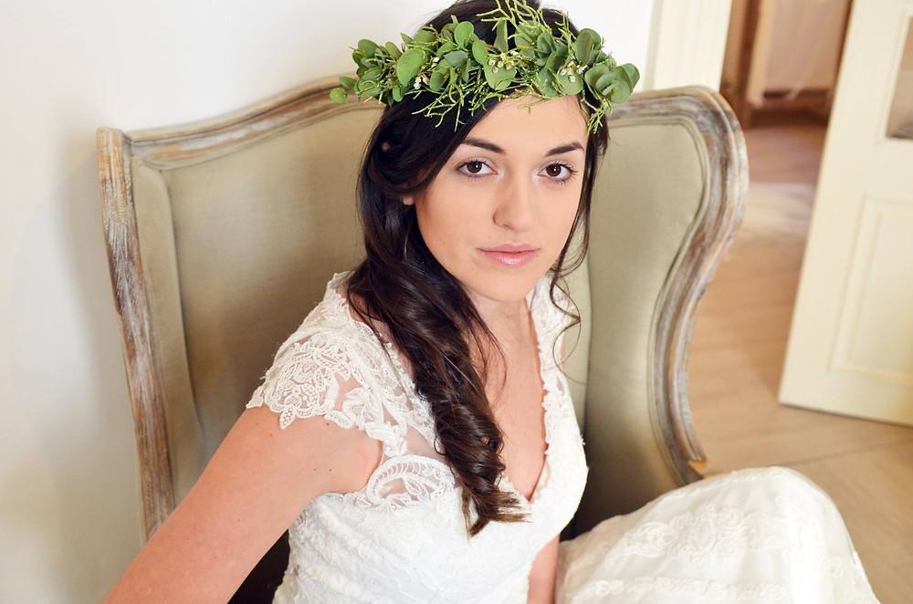 Coiffure et maquillage mariage bohème