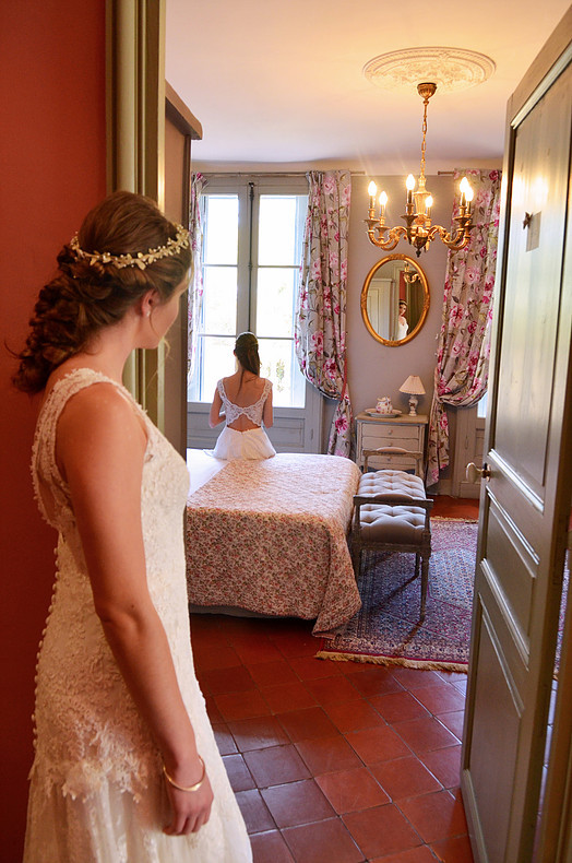 Coiffure et maquillage mariage glamour