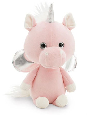 Единорожек розовый 24 см