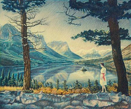 Lost in Reverie by James Bakke Montana Artist - 30x25 Crayola