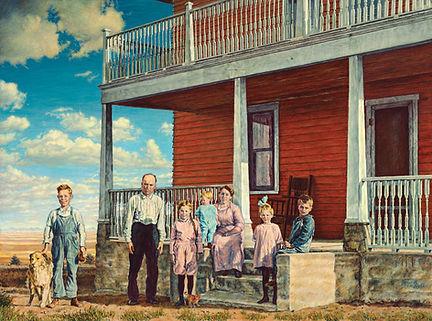 The Way We Were by James Bakke Montana Artist - 48x24 Oil