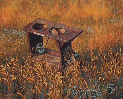Not an Outhouse by James Bakke Montana Artist - 16x20 Oil