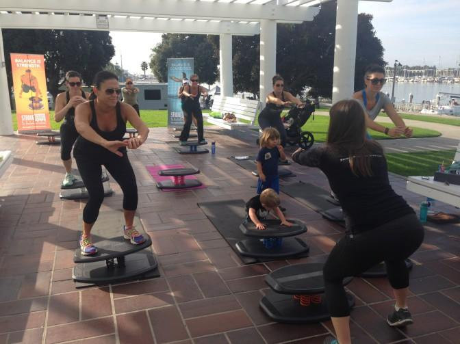 the StrongBoard Mommas fitness class promotional shoot with KTLA last year