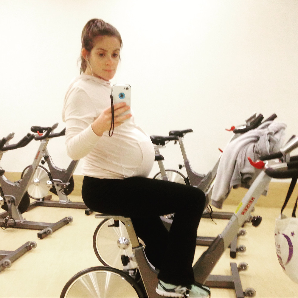 Don't mind me... just pedaling along... waiting for this child to arrive...