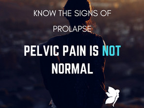 No, Pelvic Pain is NOT normal