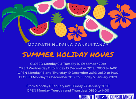 Summer Holiday Hours 2019/2020