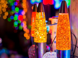 Colorful lava lamp at Night market  / Ba