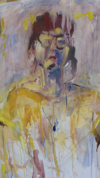 Elin in Yellow. Gouache on paper. 2016