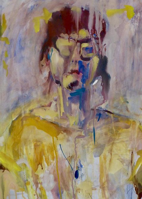 Elin in yellow (framed)