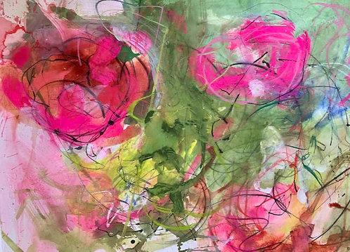 Flowers in my garden. Pink Roses Gertrude Jeckle