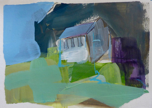 House at the end. gouache on paper. 2016