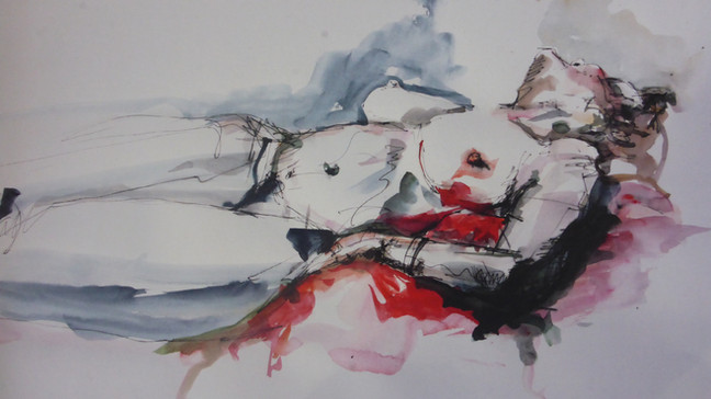 Nude. 2014. watercolour on paper