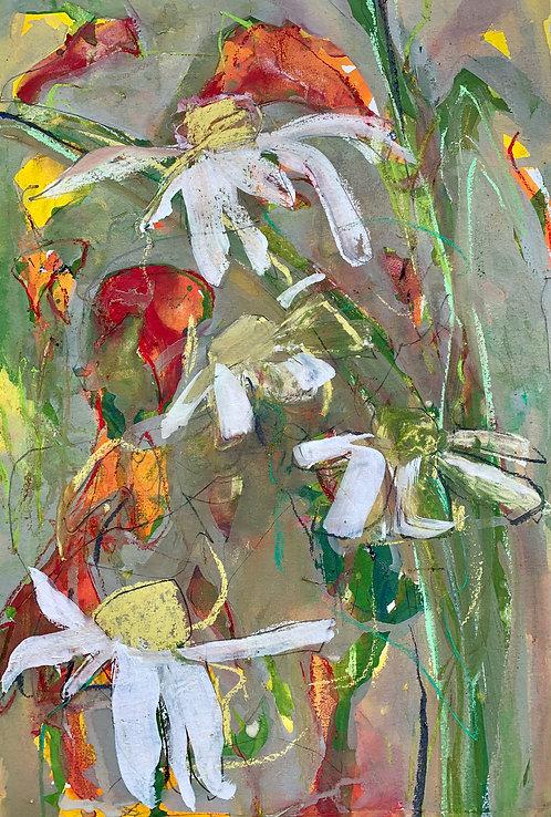 Crocosmia and Wild Daisies 1. Hedgerow treasures