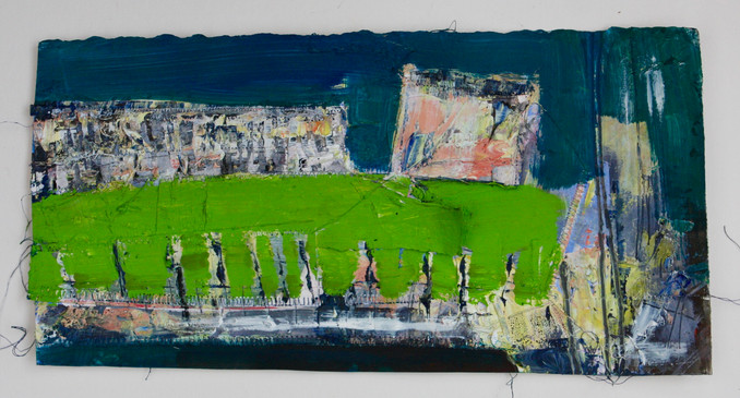 The Royal Crescent. Sewn collage paper