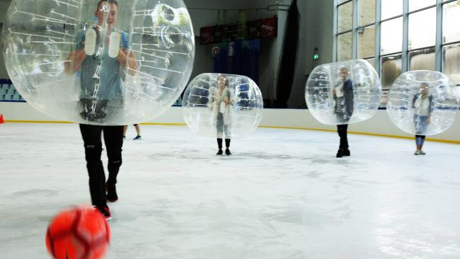 Bubble Soccer On Ice
