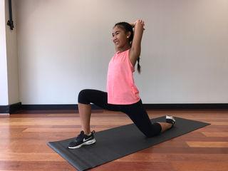 Hip Flexor Tricep Stretch
