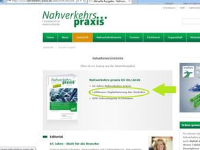 """Nahverkehrspraxis: Leitthema """"Digitalisierung des Nahverkehrs"""""""
