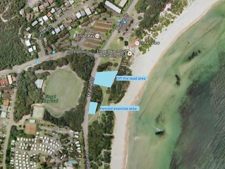 Dog Friendly Exercise Area Fingal Bay