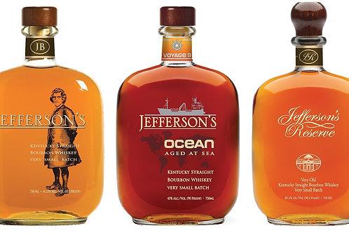 Jefferson's Bourbon Tasting Flight & Virtual Experience