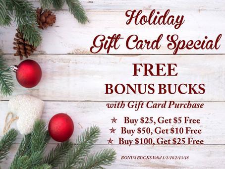 Holiday Bonus Bucks Are Here!