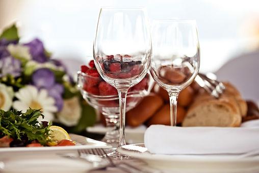 Gay friendly dinner table setting