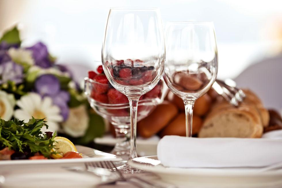 Restaurant Table with Wine Glasses - Award winning food photographers in Dubai